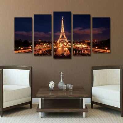 Modern Paris Eiffel Tower Painting for living room Bedroom office wall decor