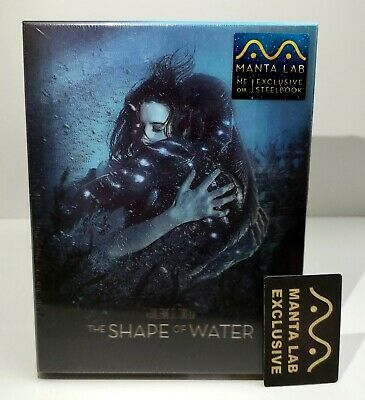 THE SHAPE OF WATER  Blu-ray STEELBOOK [MANTA LAB] DOUBLE LENTICULAR