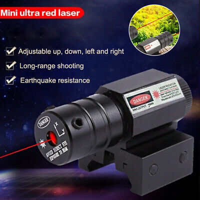 QU Mini Waterproof Tactical Red Dot Laser Sight Light Beam With Mount for Huntin