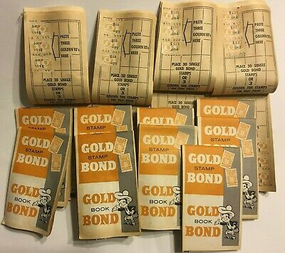 13 Gold Bond Stamp Books & a lot of Extra Stamps,Collectible.