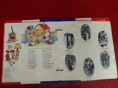 ANTIQUE/VINTAGE FRENCH LESSON SCHOOL BOOK,1930's,1940's,language,scrap book