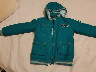 Pumpkin Patch Urban Size 10 Green Warm Puffer Jacket With Hood In EUC.