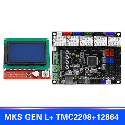 QU 12864 LCD Display Support TMC2208 Motor Driver 3D Printer Kits For MKS GEN L