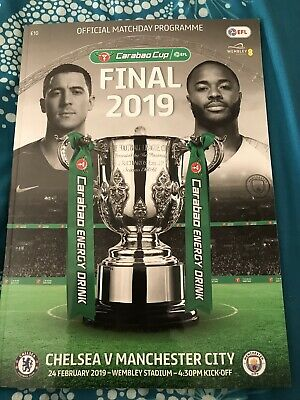 Chelsea V Manchester City Carabao Cup Final Programme 2019
