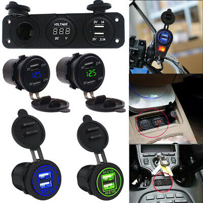 12V Dual USB Car Cigarette Lighter Socket Splitter Charger Power Adapter Outlet