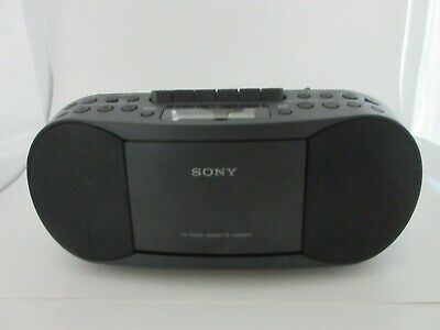 Sony CFD-S70 CD/Cassette Boom Box with Radio - Black