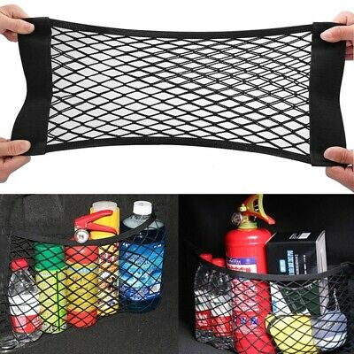 2-Layer Car Storage Net Universal Mesh Organizer Pouch Bag for Car Trunk Black