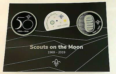 50 years since FIRST SCOUTS ON THE MOON Badges , Astronauts NASA Apollo 11 Space