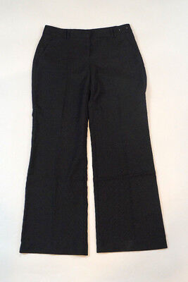 New York & Company Flare Leg Size 6 Stretch Black Pinstripe Career Dress Pants