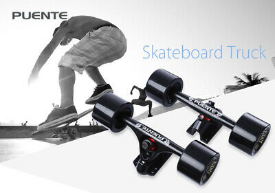 Skateboard 2pcs Universal Durable Magnesium Alloy 7 inch  Truck with Whell