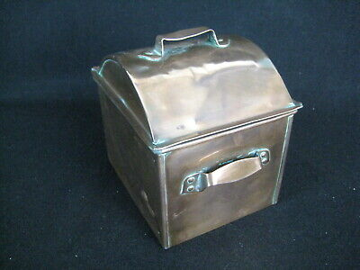 Vintage Copper Lidded Arts and Crafts Tin