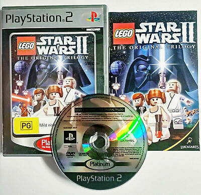 Mint Disc Playstation 2 Ps2 Lego Star Wars II - The Original Trilogy Free Post