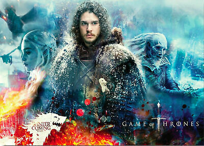 Game Of Thrones Jon Snow Poster Print A5..A4..A3 A2 Options