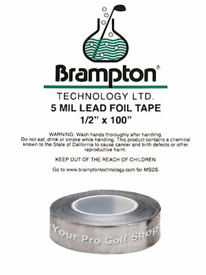 Brampton Lead Tape for Golf Clubs – Applied to the Clubhead to adjust weight