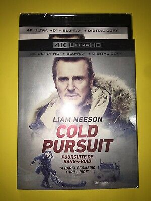 Cold Pursuit 4K Ultra Hd + Blu Ray With Slipcover Sleeve  Liam Nees