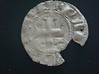 France crusader Hainaut silver coin 1200's Byzantine period  700 year old