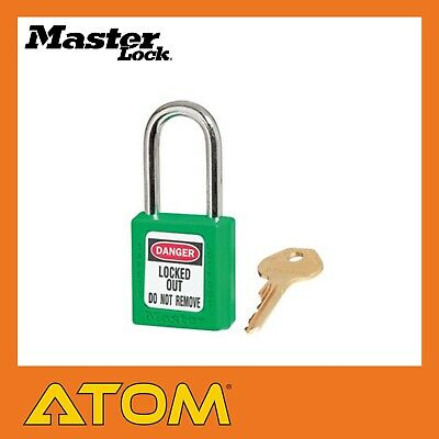 Master Lock Safety Lockout Padlock Green Zenex 38/44mm 0410