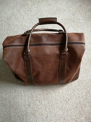 Excellent Condition, Vintage Style Retro Medium Tan/Brown Holdall Travel Bag