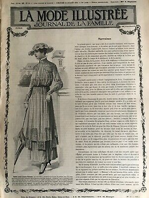 MODE ILLUSTREE SEWING PATTERN July 25,1915 MATINEE, DRESSES, BLOUSES