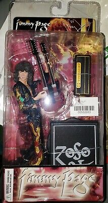Rare JIMMY PAGE Led Zeppelin Figurine with Gibson Doubleneck Guitar and ZOSO Amp