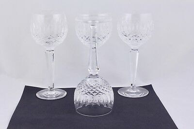 """Set Of 4 Waterford Crystal Colleen 7-1/2"""" Wine Hock Glasses - Mint"""