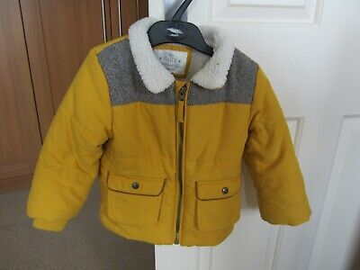 MARKS AND SPENCER baby coat, yellow, padded, age 18m - 24m