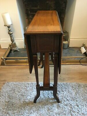 Edwardian Sutherland Mahogany and Satinwood Folding Table