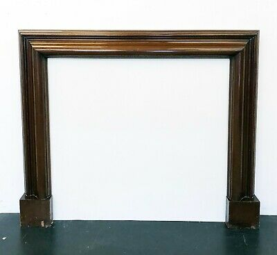 Solid Mahogany Bolection Surround possibly Edwardian or 1920s Fireplace Surround