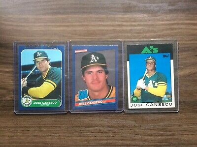 Card Lot Of Jose Canseco Rookie Inserts Donruss And Fleer