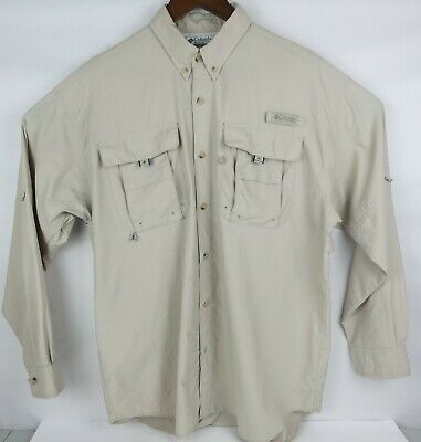 NEW COLUMBIA PFG Fishing Vented Long Sleeve Shirt Mens M