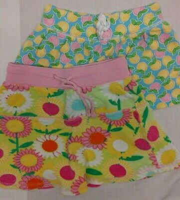 Lilly Pulitzer Toddler Girls Skort Skirt 2 skirts size 3T Pink Yellow Flowers