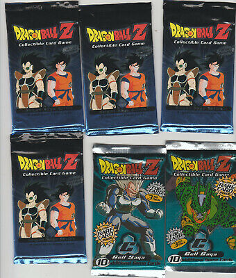 Dragon Ball Z CCG SEALED packs x6 CELL & SAIYAN Saga LOT 1989 Super VEGETA Broly