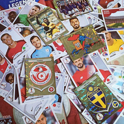 Panini 2018 FIFA WORLD CUP RUSSIA Stickers - Pick 15 From Huge List. **NEW**