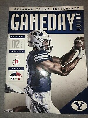 2017 BYU VS. Utah Collage Football Game Program Cougars Provo Utes DUEL