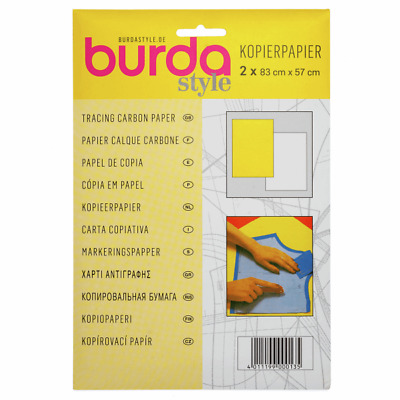 Burda Carbon Tracing Paper Tailors Dressmaking Yellow & White