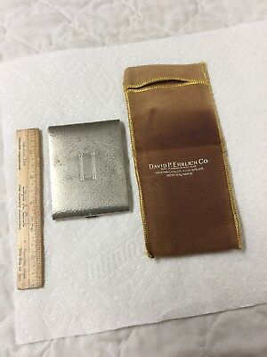 Antique Art Deco Cigarette Case EC Co. Nickel Silver David Ehrlich Boston Mass