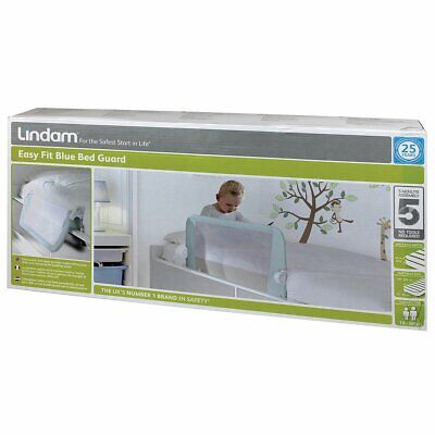 Lindam Easy fit Bed guard Blue#