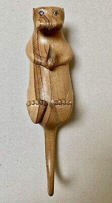 Wooden Possum like Animal Unusual Hanging Ornament from Indonesia Handmade