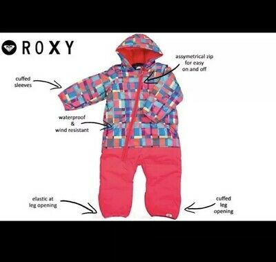 a01af1d0d ROXY GIRL'S ZIP Up Waterproof Snowsuit / Girl's Toddler Size 12M ...