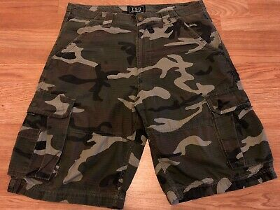 50afc2c8db CSG CAMO CARGO Shorts Camouflage Champs Sports Gear Mens Size 38 40 ...