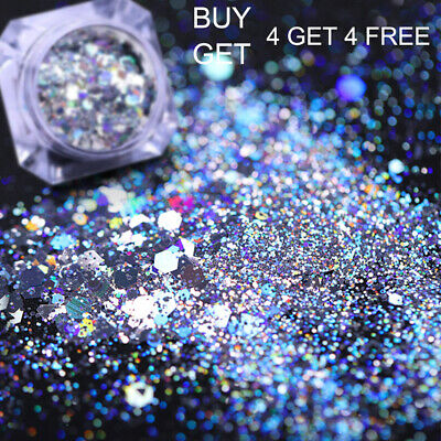 Holographic Nail Powder Glitter Laser Irregular Sequins Flake Nail Art Decor DIY