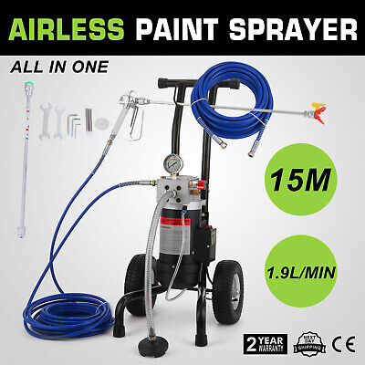 All-in-One Airless Paint Sprayer Painting Machine w/ 2 Filters 2 Hoses M819-A