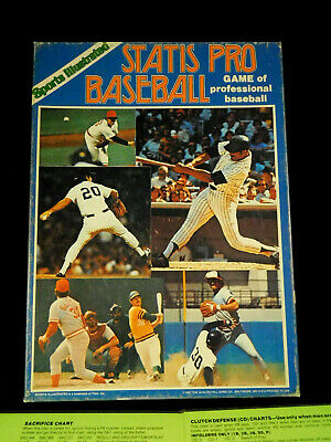 Statis Pro Baseball Game 1978 Player Cards Charts Avalon