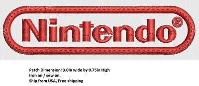 **Love It Or Its Free** Nintendo Embroidered Patch Iron On/ Sew On, Free Ship