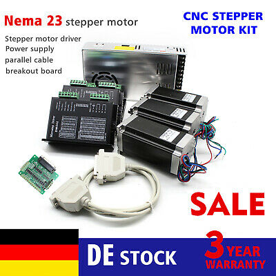 3 Axis Nema23 Schrittmotor Stepper Motor CNC Router kit 425oz-in 4.2A Driver DHL
