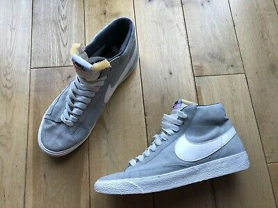 check out d9b53 e0c48 Nike Blazer Mid Suede Vintage Laced Grey With White Logo High Tops Mens  Size 9