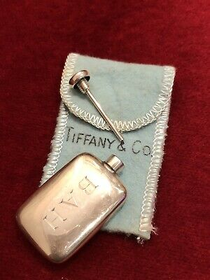 Vintage Sterling Silver Tiffany & Co Miniature Perfume Flask Bottle Monogram BAH