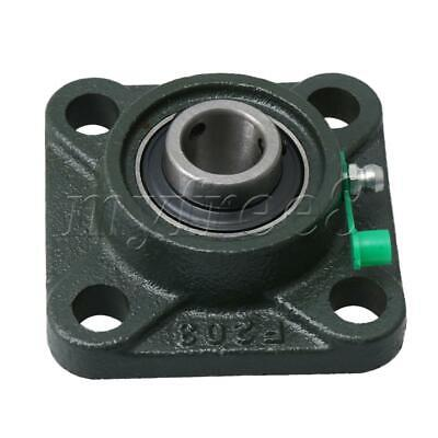 UCF203 17mm Hole Dia Multicolor Metal Square Flange Bearing for Connecting Rod