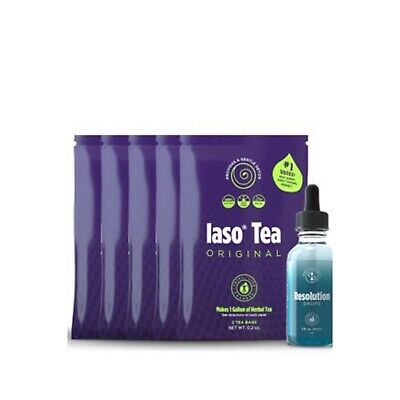 💝SALE💝TLC Control Kit Iaso Tea & Resolution Drops COMBO Weight Loss /Diet