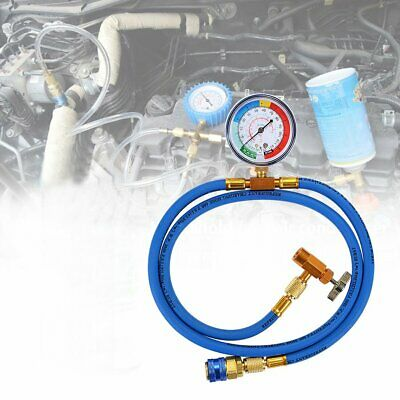R134A Car Air Conditioning Refrigerant Charging Hose 1.5m with Pressure Gauge